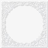 Paper floral frame. Vector illustration