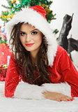Pretty woman in Santa costume