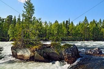 Threshold Padun. Umba River, The Kola peninsula, Russia
