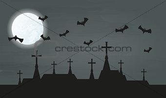 bat and city