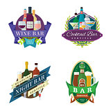 wine beer bar signs labels badges