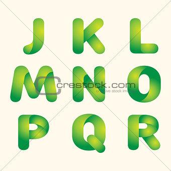 green leaves eco font
