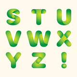 green leaves eco font