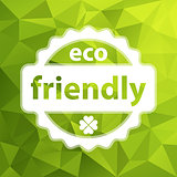 white vector eco friendly stamp