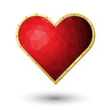 vector realistic red heart jewel