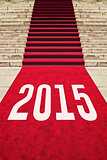 Red Carpet with number 2015
