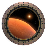 Mars Spacecraft Porthole