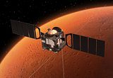 Spacecraft Mars Express Orbiting Mars