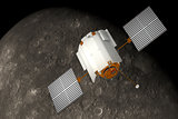 Spacecraft Messenger Orbiting Mercury