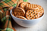 honey cookies in a bowl