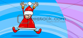 santa claus greeting card cartoon