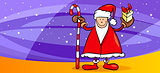 santa greeting card cartoon illustration
