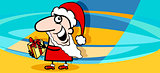 christmas greeting card cartoon