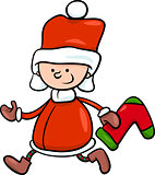 santa claus boy cartoon illustration