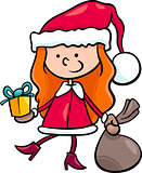 santa claus kid cartoon illustration