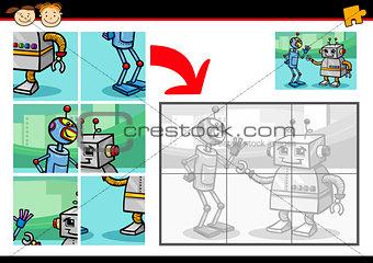 cartoon robots jigsaw puzzle game