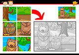 cartoon bear jigsaw puzzle game