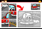 cartoon car jigsaw puzzle game