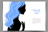 Beautiful woman's silhouette
