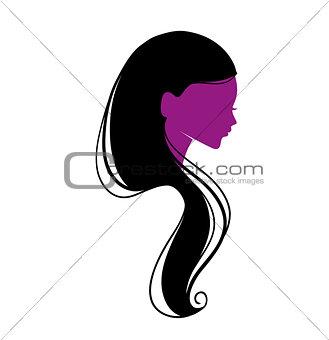 Beautiful woman's silhouette