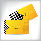 Two sided taxi business card design