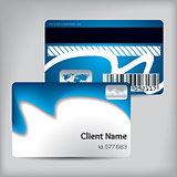 Blue wave loyalty card design