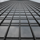Grey Uniform Grid Skyscraper
