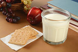 Graham crackers and milk after school
