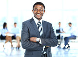 handsome young african american businessman