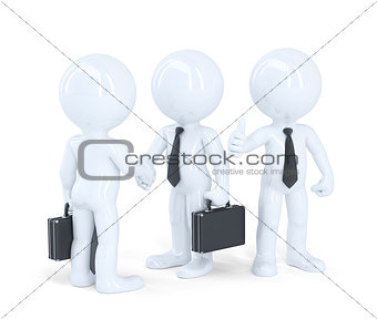 Business people shaking hands. Isolated. Contains clipping path