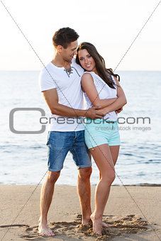 Beautiful couple on the beach