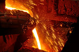 Molten steel pouring