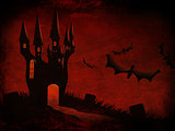 Halloween Castle and bats