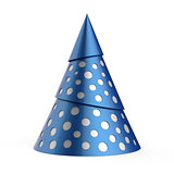 Blue stylized Christmas tree with silver decoration