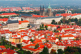 Aerial view over Prague Castle in Prague, Czech Republic