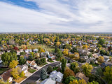 Colorado houses aerial view