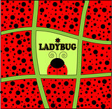 ladybug background invitation card vector illustration art