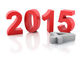 New Year 2015 on  white background