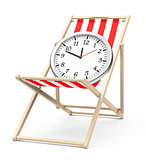Clock on a beach chair