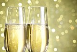 flutes of champagne abstract background