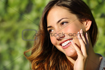 Beauty woman with a perfect smile and white tooth