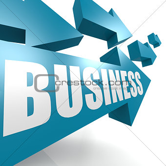 Business arrow blue