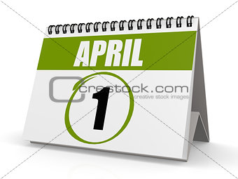 April 1 calendar