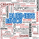 Business ethics word cloud cloud image