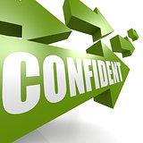Confident arrow green