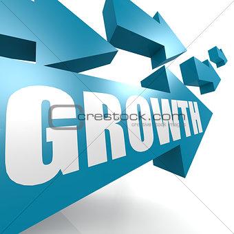 Growth arrow in blue
