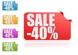 Sale 40% label set