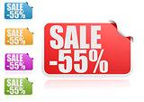 Sale 55% label set