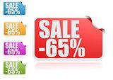 Sale 65% label set