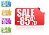 Sale 85% label set